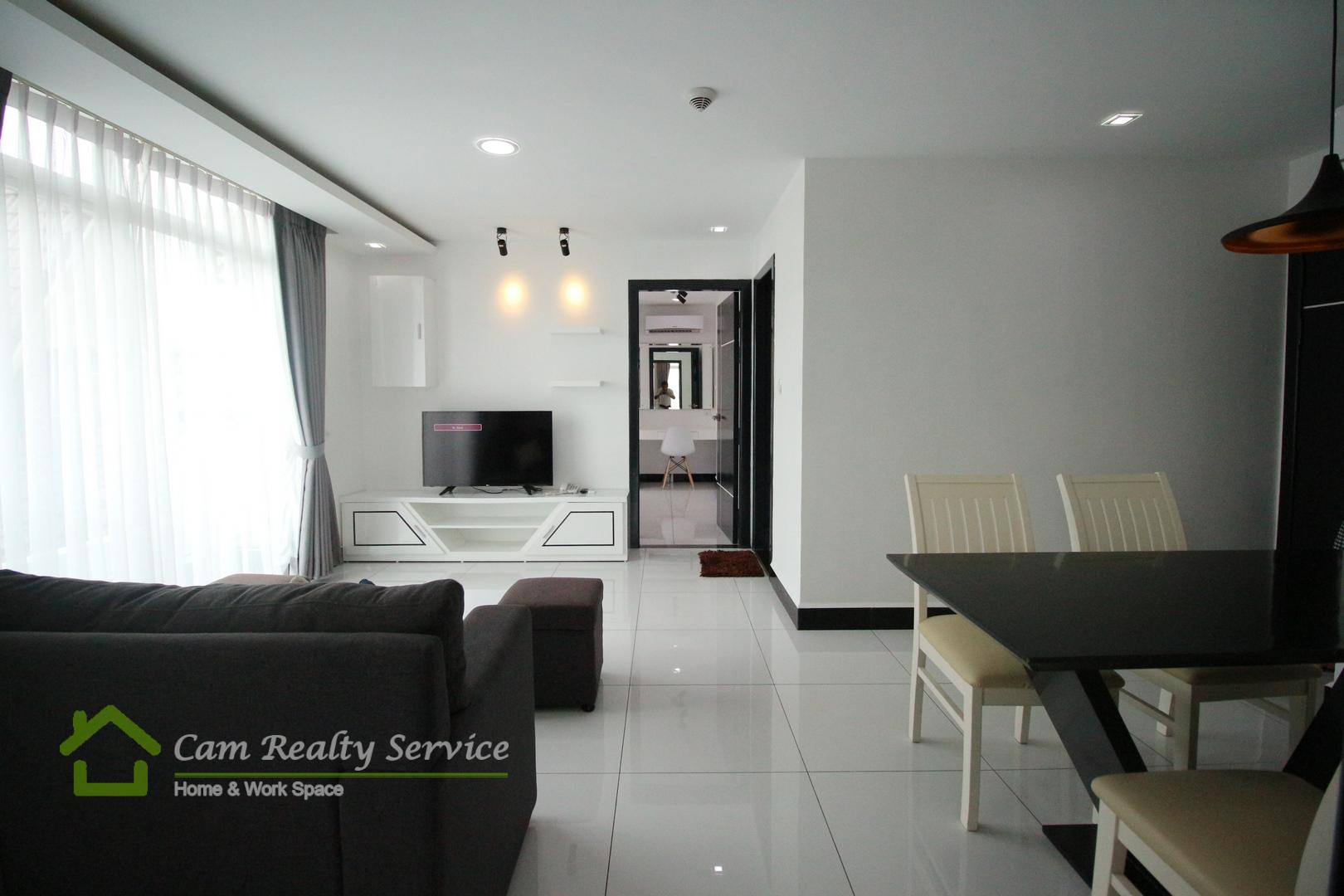 BKK3 area| Modern style 2 bedrooms serviced apartment available for rent| 800$/month up| Pool, gym, steam & sauna