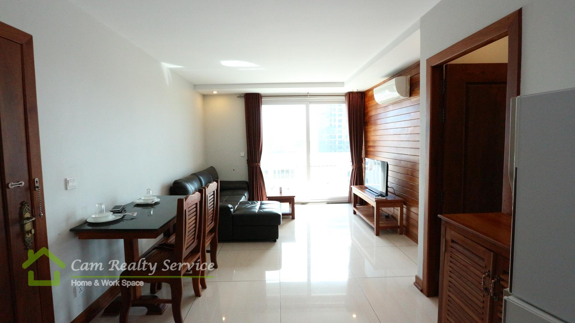 Toul Sleng  Wooden designed 2 bedrooms serviced apartment available for rent  800$/month up  Rooftop pool & Gym
