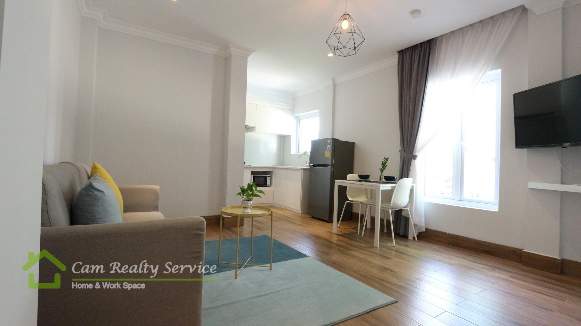 BKK1 area  Modern style 1 bedroom serviced apartment for rent  700$/month Up  Gym