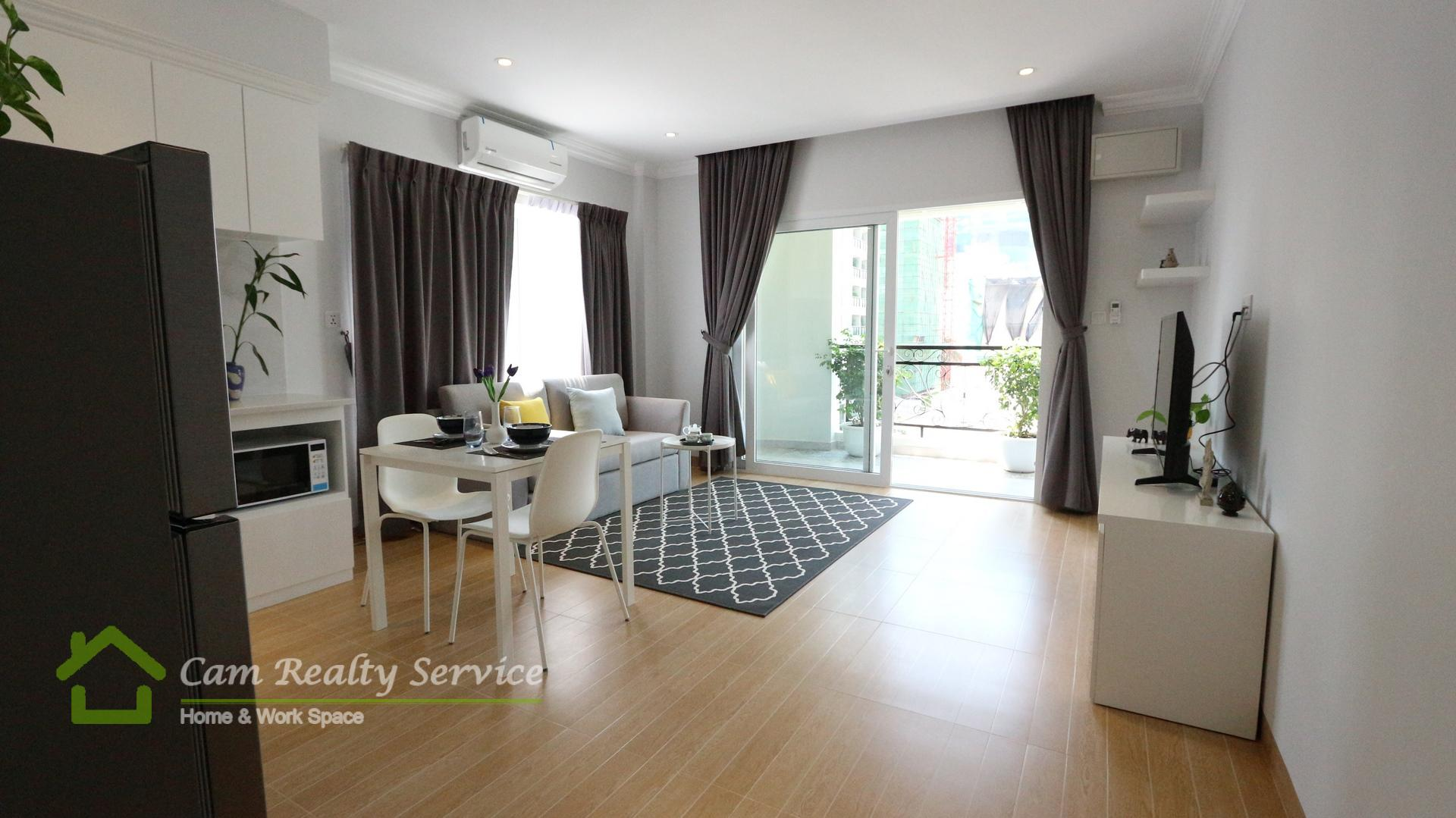 BKK1 area| Modern style 1 bedroom serviced apartment for rent| 700$/month up| Gym