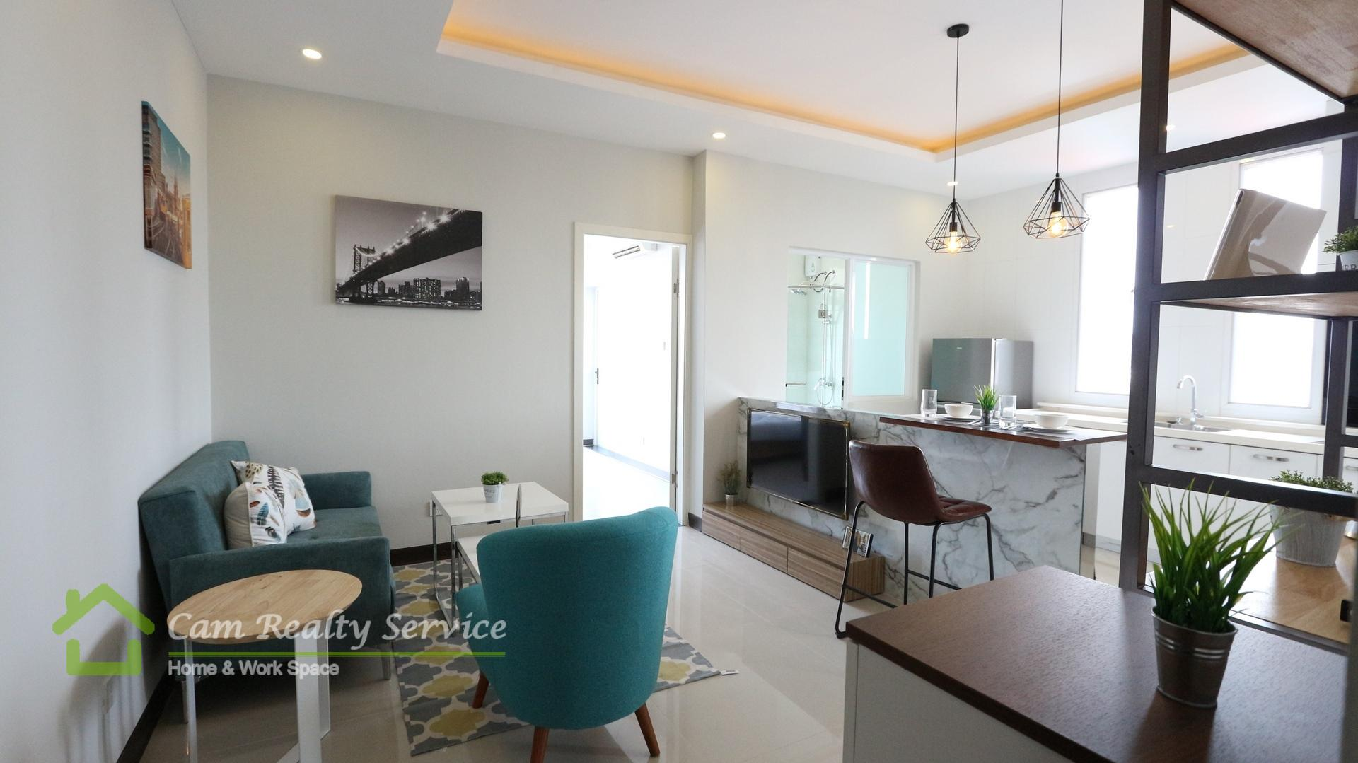 Wat Phnom Area| Modern Style 1 Bedroom Apartment Available For Rent| 500$/Month Up| Pool & Gym