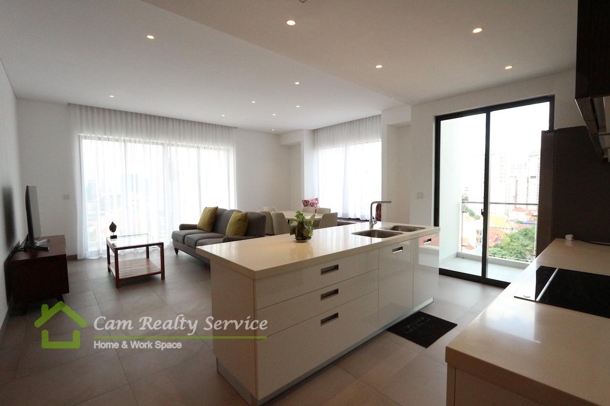 BKK1 area  Modern style 2 bedrooms condominium in nice echo complex building for rent  2500$/month