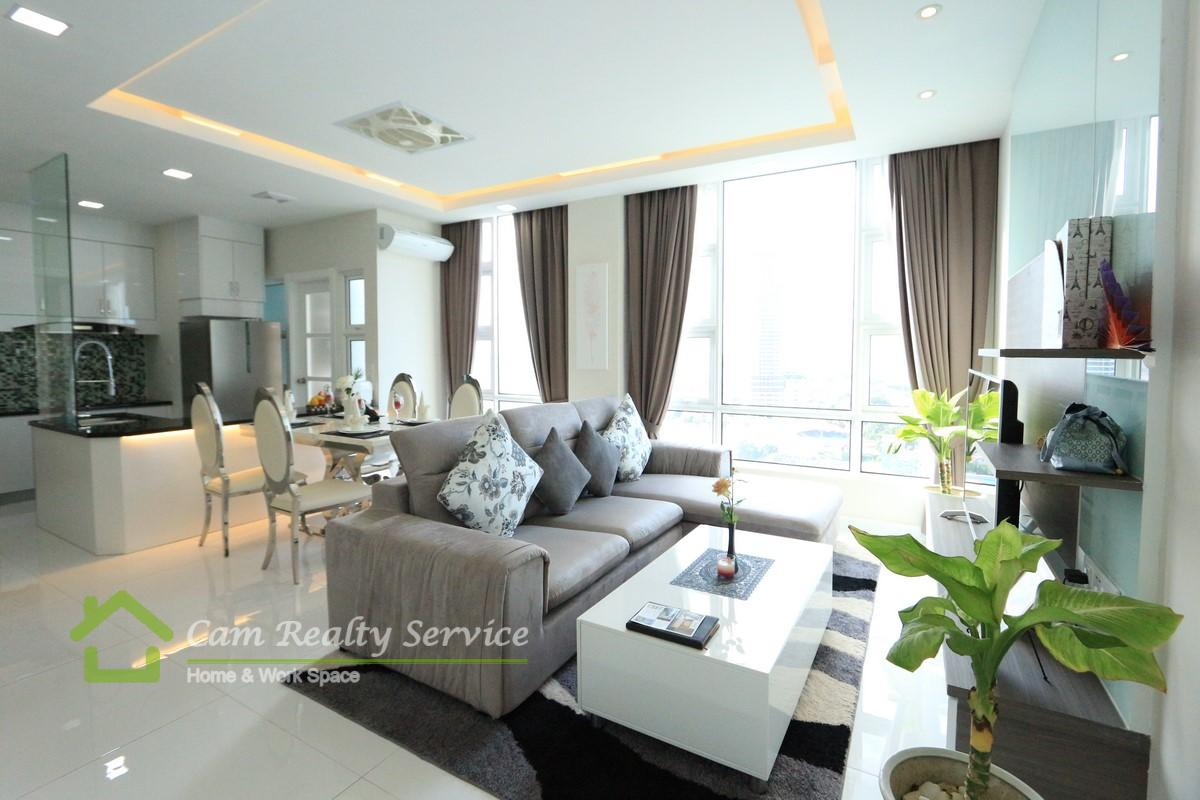 Chroy Chongva area  Modern style fully serviced 1 bedroom apartment with river view for rent  800$/month up  Pool & gym