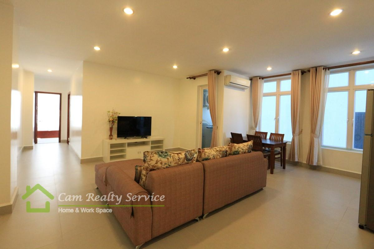 Russian Market area| Spacious modern style 2 bedrooms serviced apartment for rent| 700$/month up| Gym