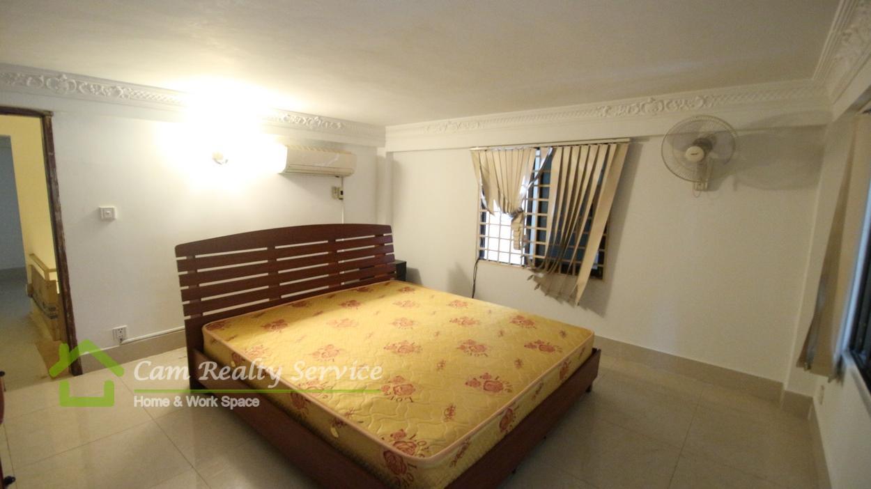 Toul Sleng Area|Very nice 3 bedrooms link house fully-furnished available for rent 400$/month(1st floor)