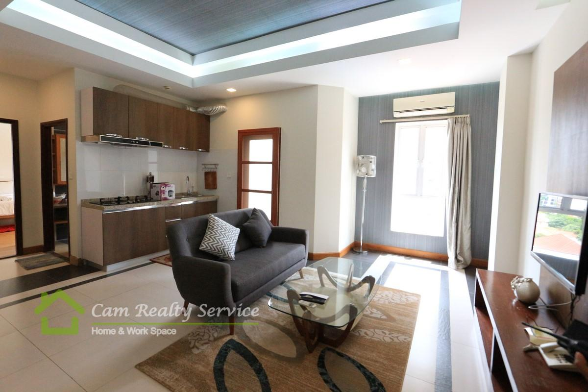 BKK1 area  Modern style 1 bedrooms serviced apartment for rent  900$/month up  Pool, gym, sauna & steam