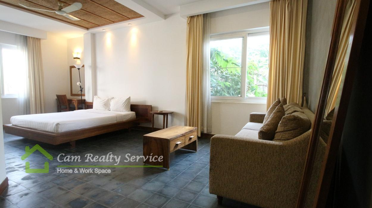 BKK1 area| Western style studio serviced apartment for rent 490$/month
