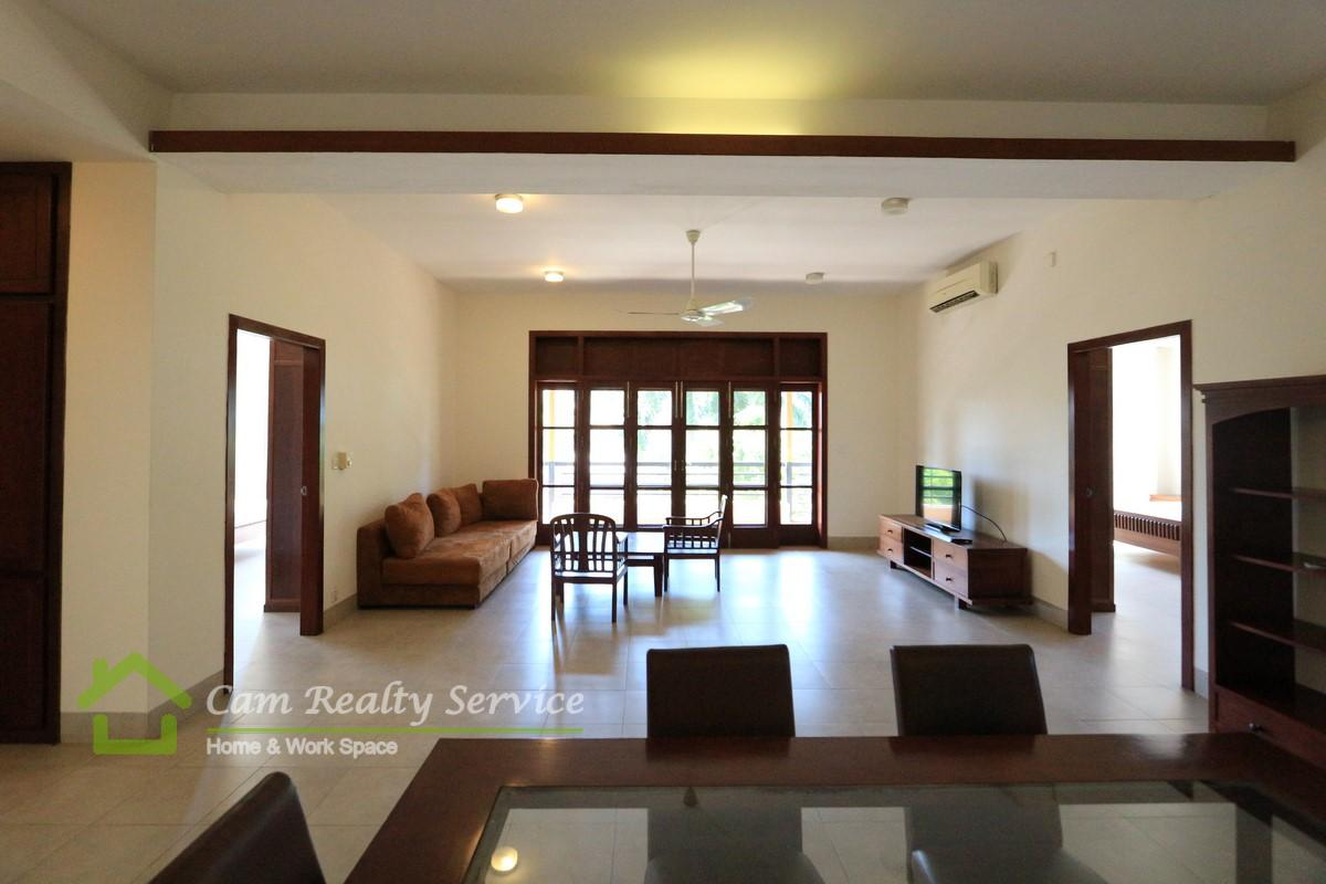 BKK1 area| Very nice classic style 3 bedrooms apartment available for  rent| 1700$/month| Gym