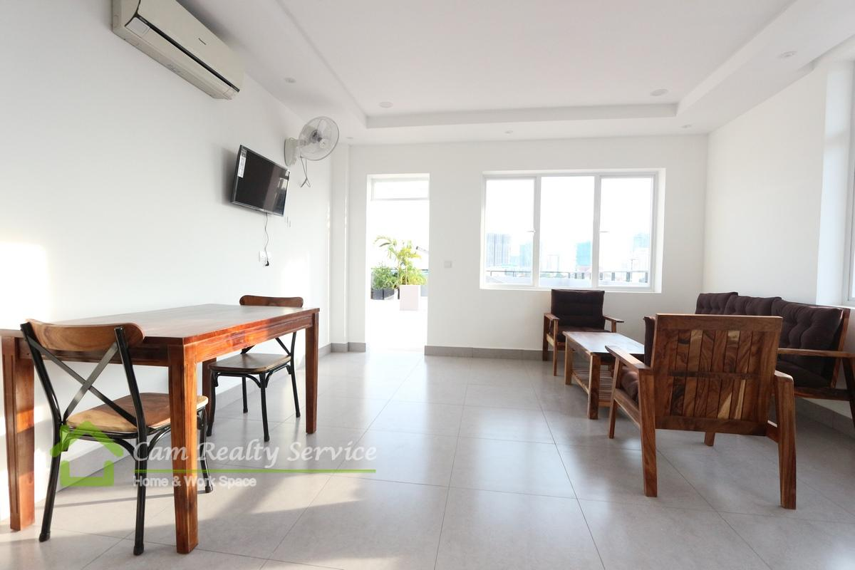 Tonle Bassac Area  Brand modern style  1 bedroom 1 bathroom available for rent 400$/month up