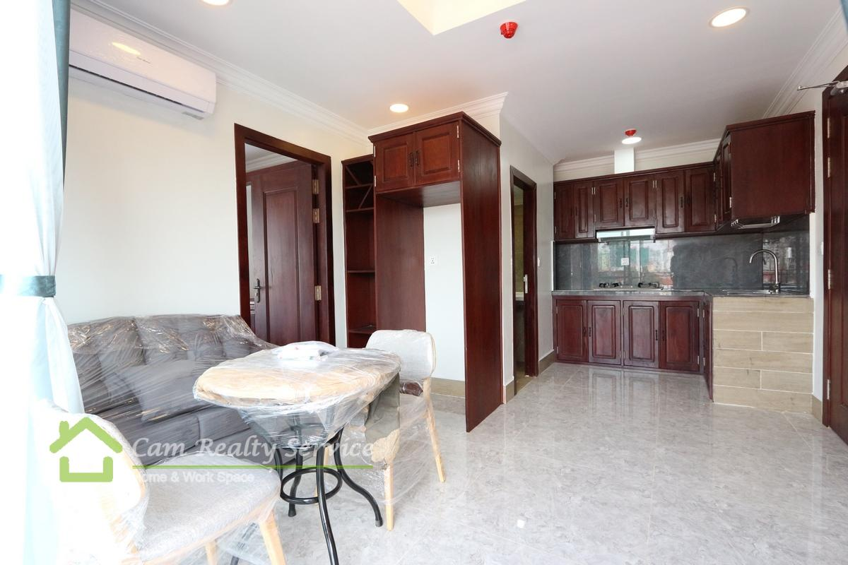 Royal Palace Area| Modern style 1 bedroom serviced apartment for rent 400$/month up| Rooftop pool & gym|