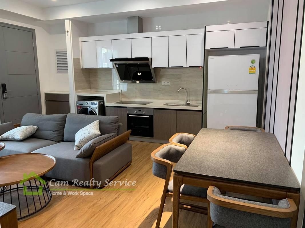 Chinese Embassy area  Modern style 2 bedroom service apartment for rent 800$/month ( elevator & car parking)