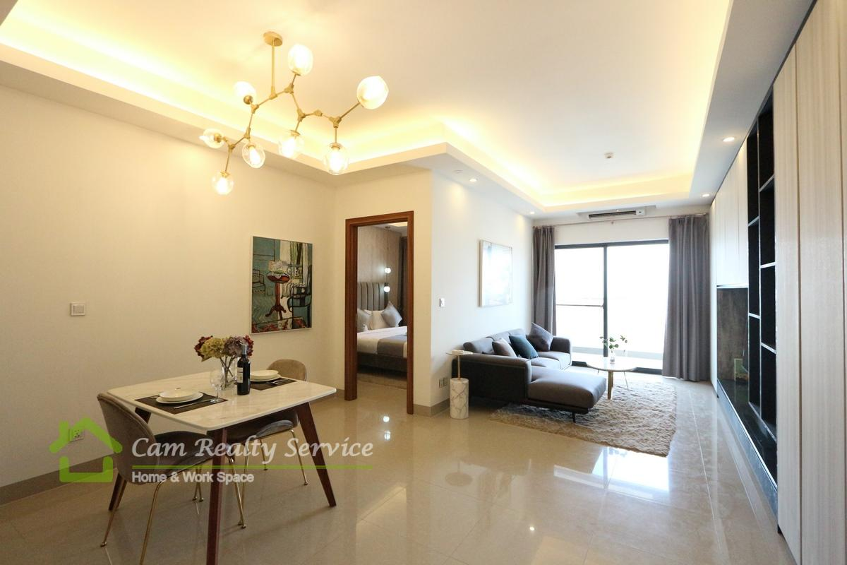 Toul Kork Area| Western style| 1 bedroom service apartment available for rent 600$/month( swimming pool, gym, steam, sauna)