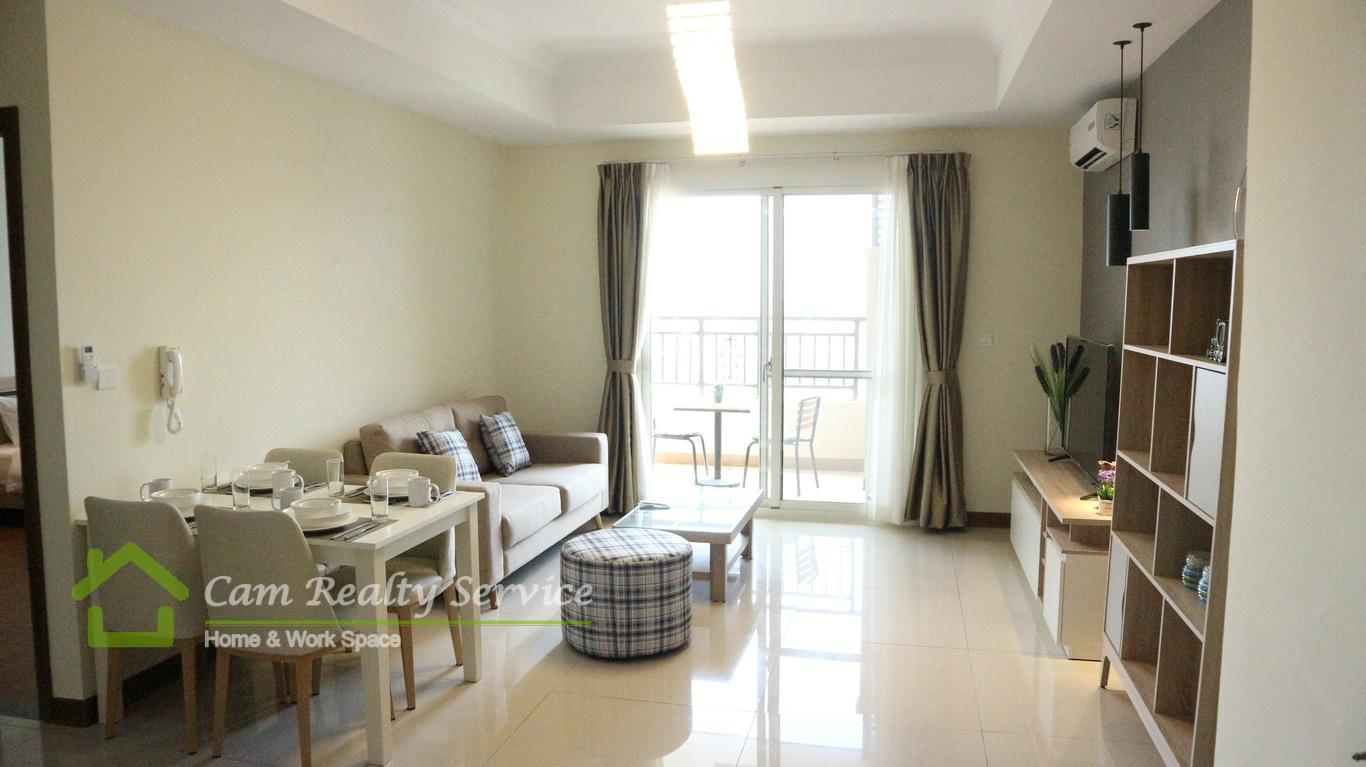 Chroy Chongva area  Modern style 1 bedroom apartment for rent  500$/month  Pool & Gym