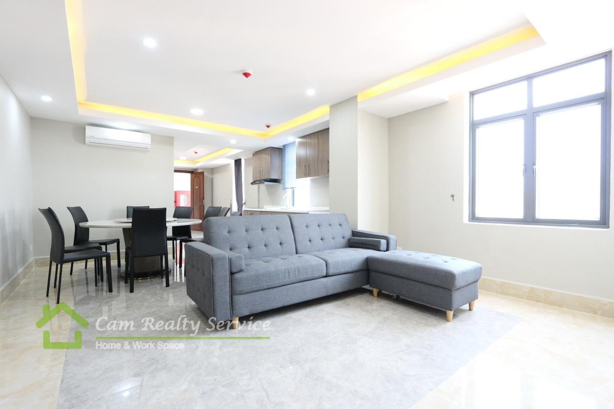 Toul Sleng Area(BKK2)  Modern style 4 bedroom serviced apartment for rent 2700$/month(pool, gym, steam & sauna)