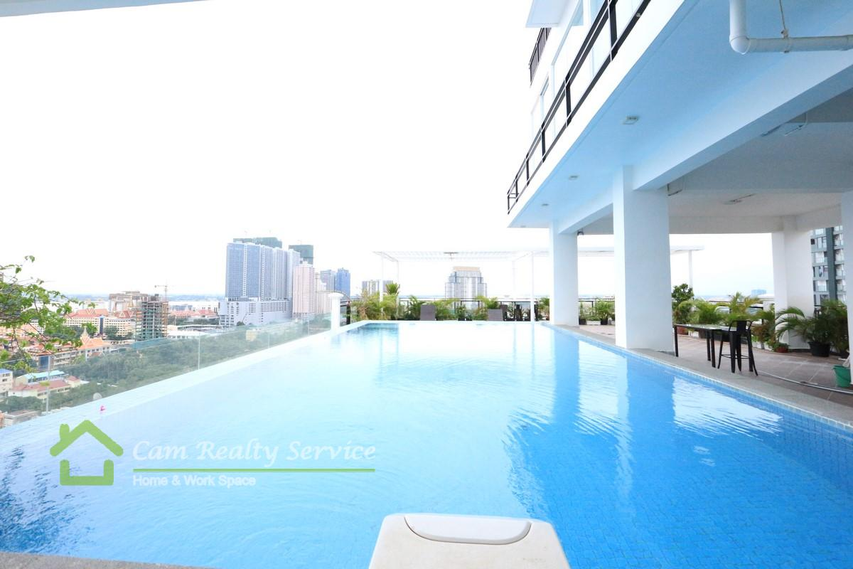 Aeon Mall area| Modern style studio serviced apartment available for rent 400$/month|Pool & Gym