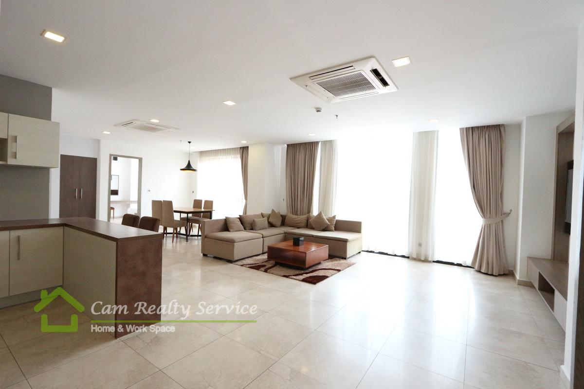 BKK1 area| Very nice 2 bedrooms serviced apartment for rent in Phnom Penh| 2800$/month| Pool, gym, steam & sauna