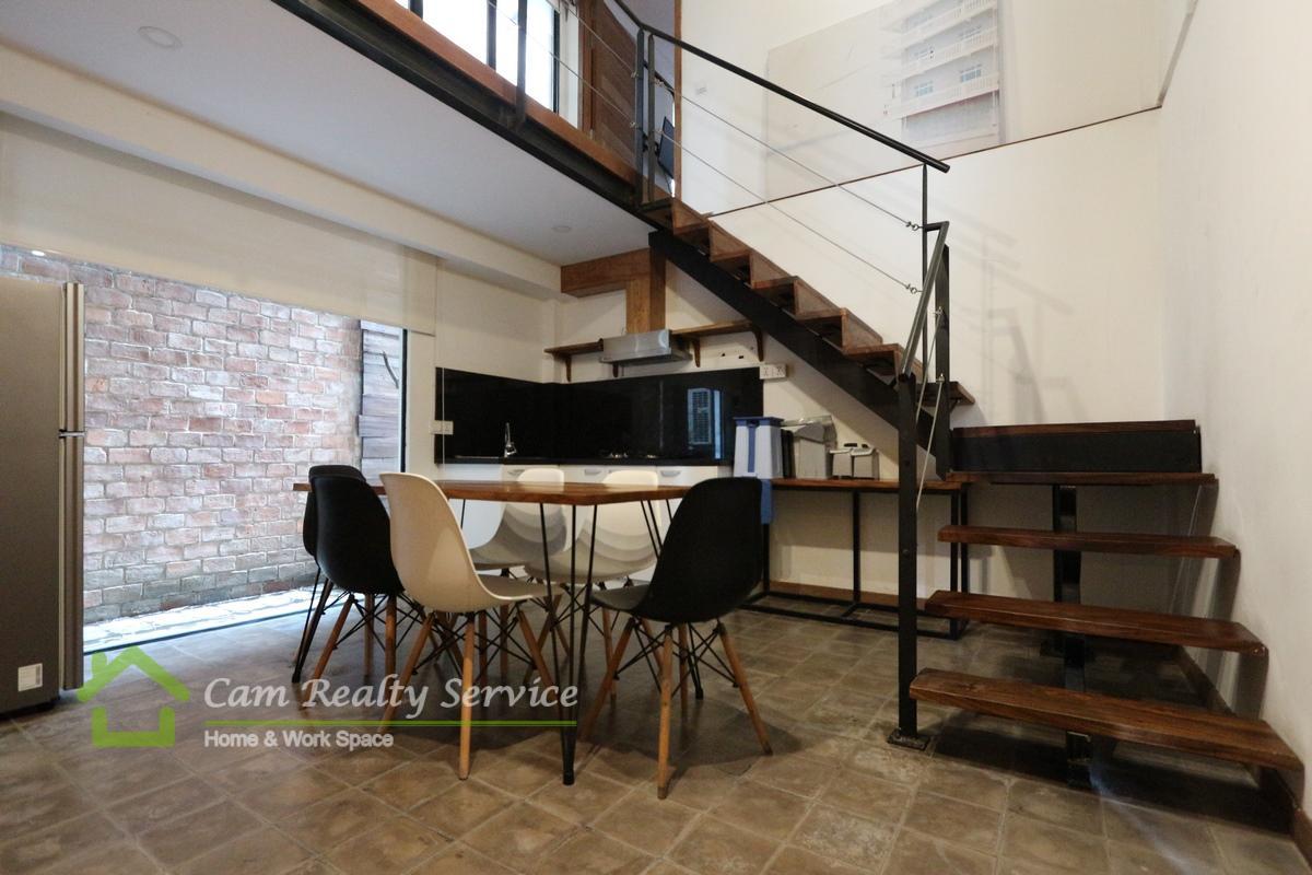 BKK1 area | Modern duplex style serviced apartment for rent in Phnom Penh
