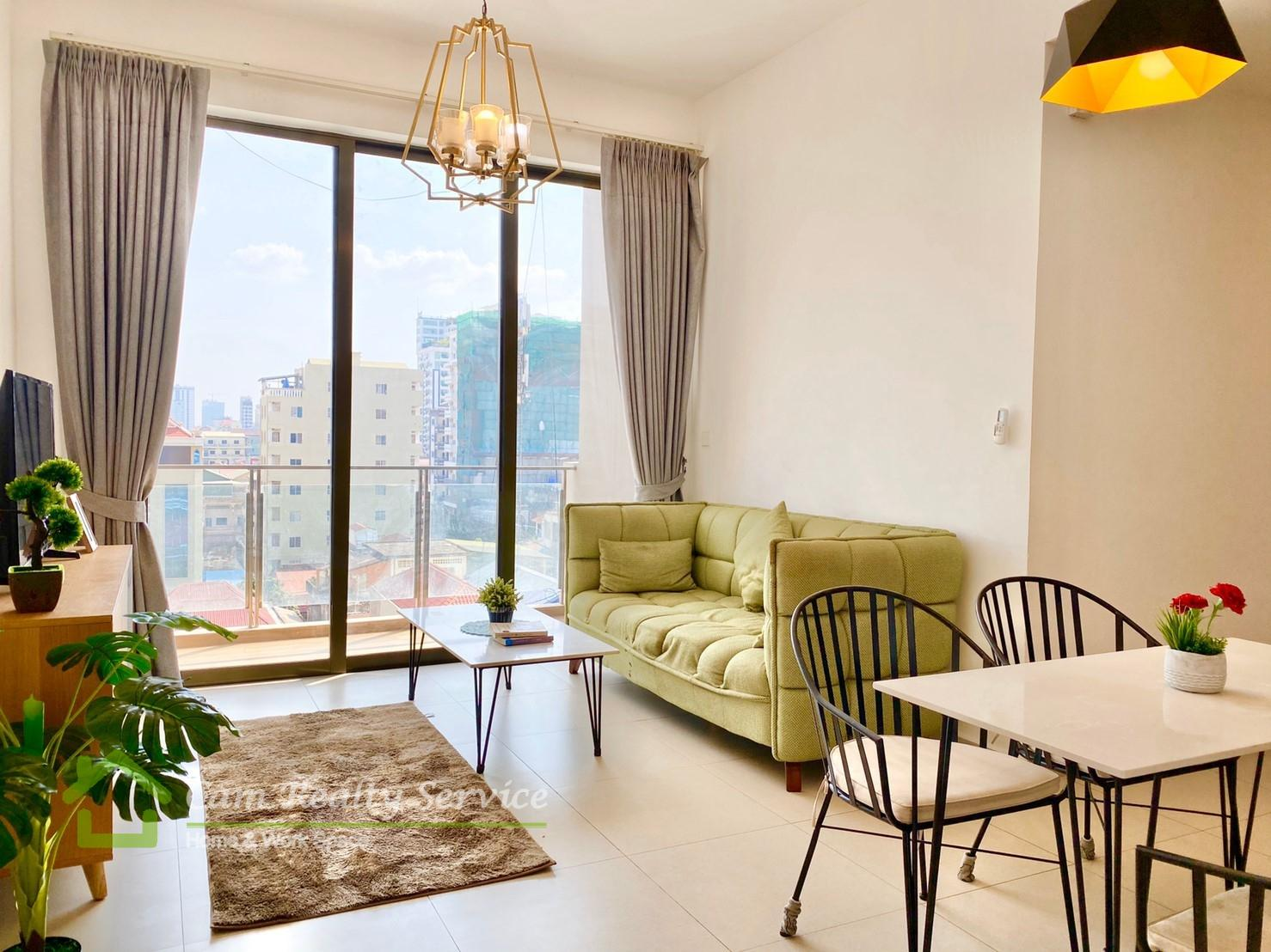 BKK3 area(Close to BKK1 area)  2  bedrooms apartment  750$/month up  Pool & Gym