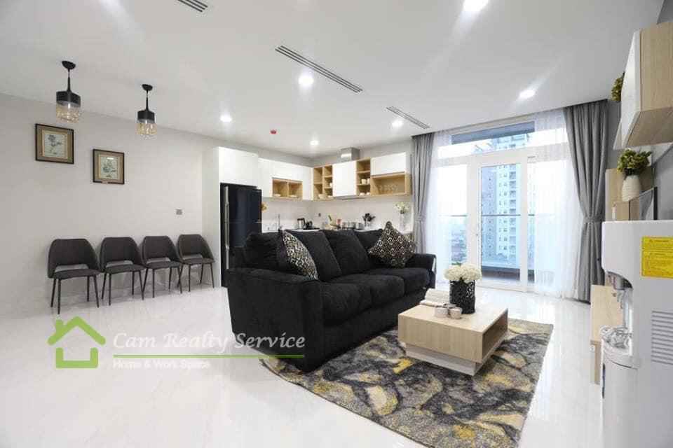 BKK2 area| Spacious 1 bedroom serviced apartment for rent| 1350$/month up| Pool, gym, steam & sauna