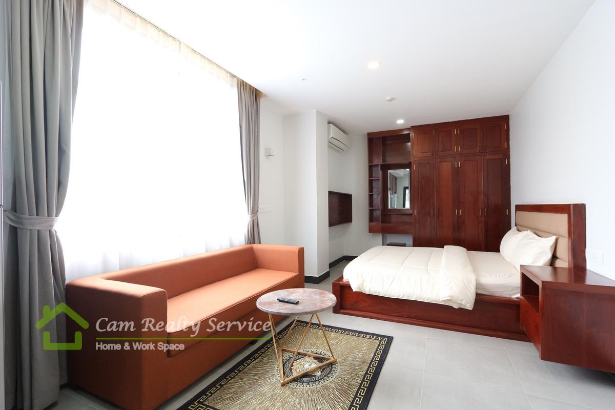 Aeon Mall Area  Modern style studio serviced apartment for rent 500$/month