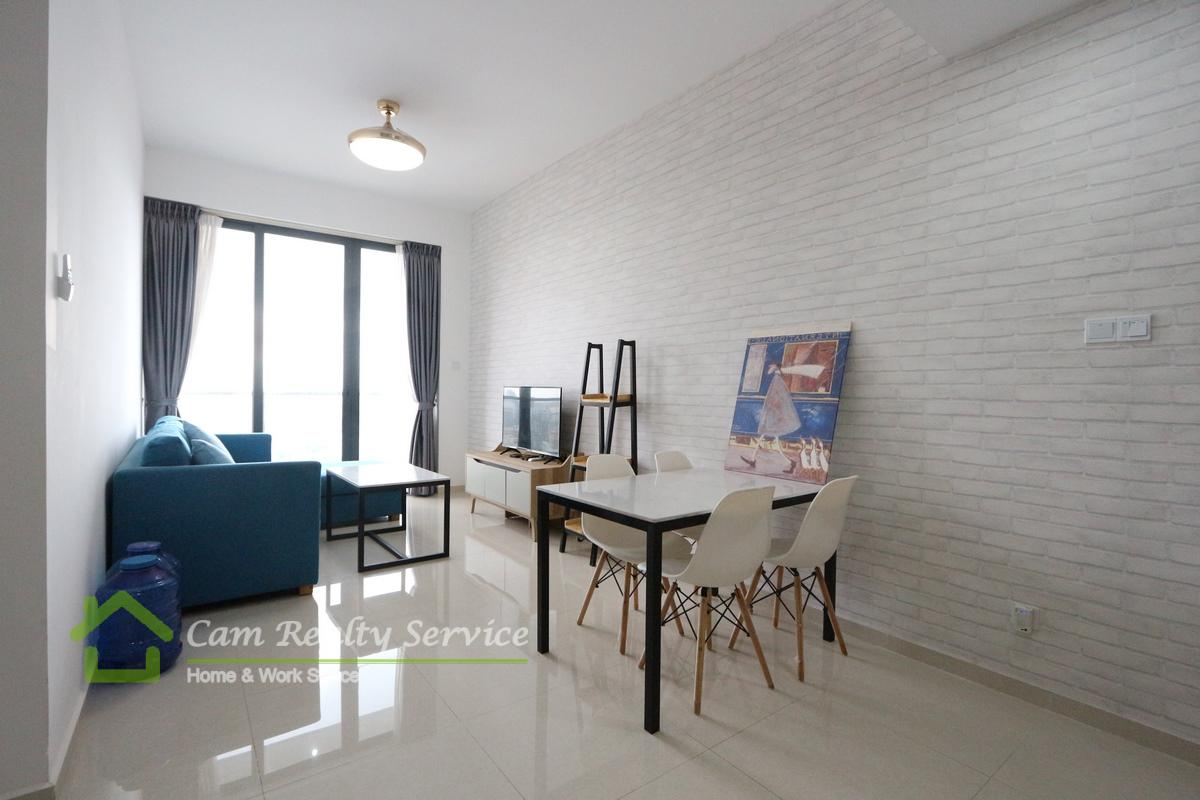 Toul Kork area  Modern style 2 bedrooms apartment for rent  800$/month  Pool, gym, sauna