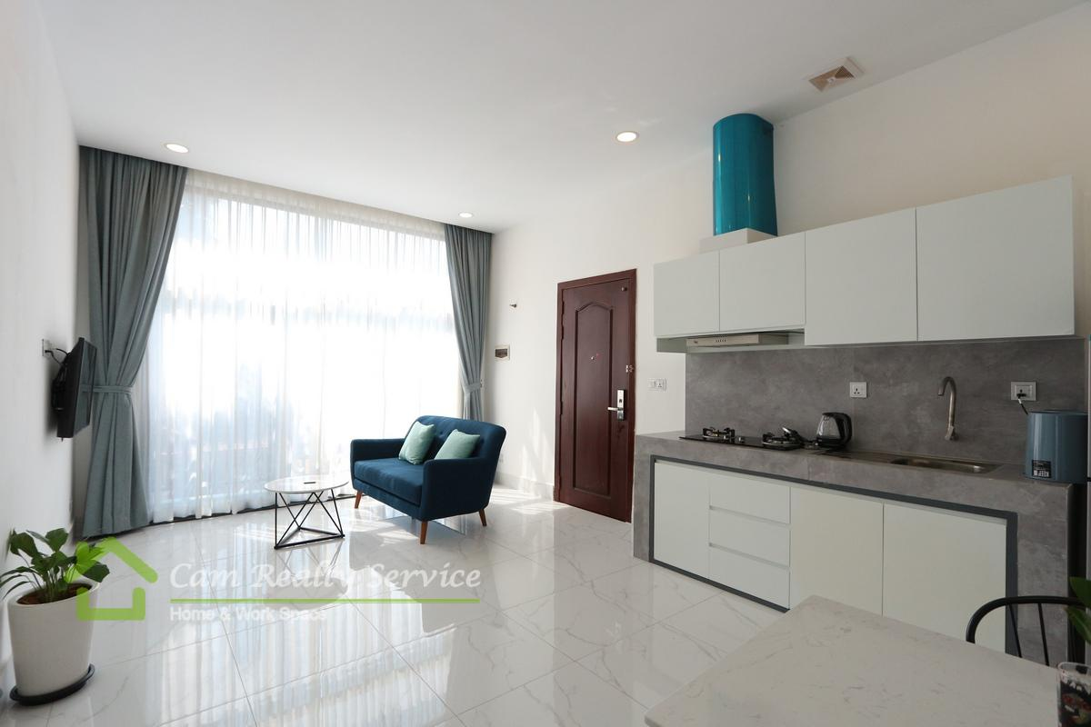 Boeng Trabek area  Spacious 1 bedroom apartment available for rent 460$/month