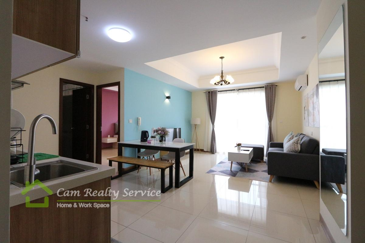 Chroy Chongva area| Modern style 1 bedroom apartment for rent| 550$/month up| Pool & Gym