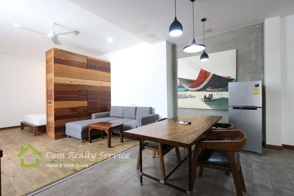 BKK1 area| Western style studio serviced apartment available for rent 500$/month