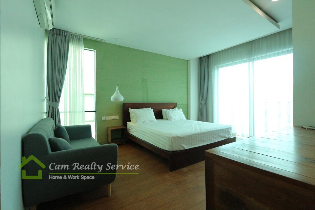 BKK3 area(near BKK1)  Western style studio apartment available for rent 350$/month