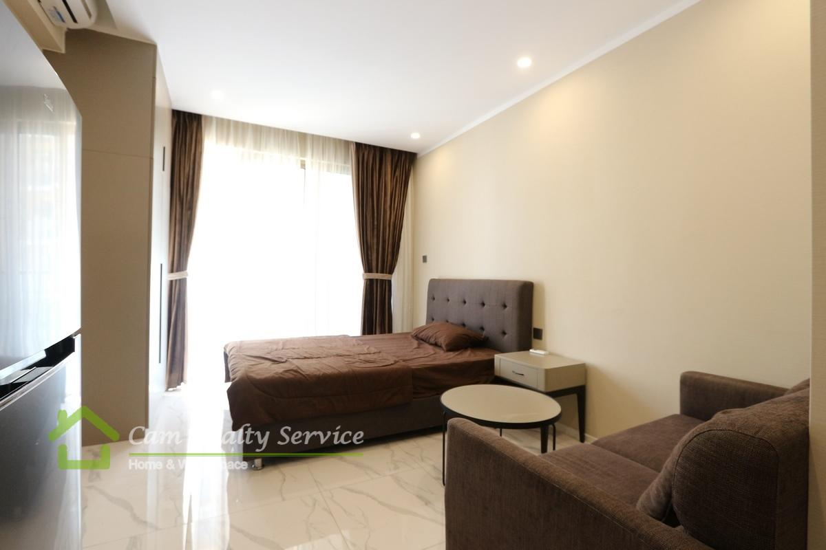 Modern style studio apartment available for rent near Vattanak Tower  500$/month   Resort-pool & gym