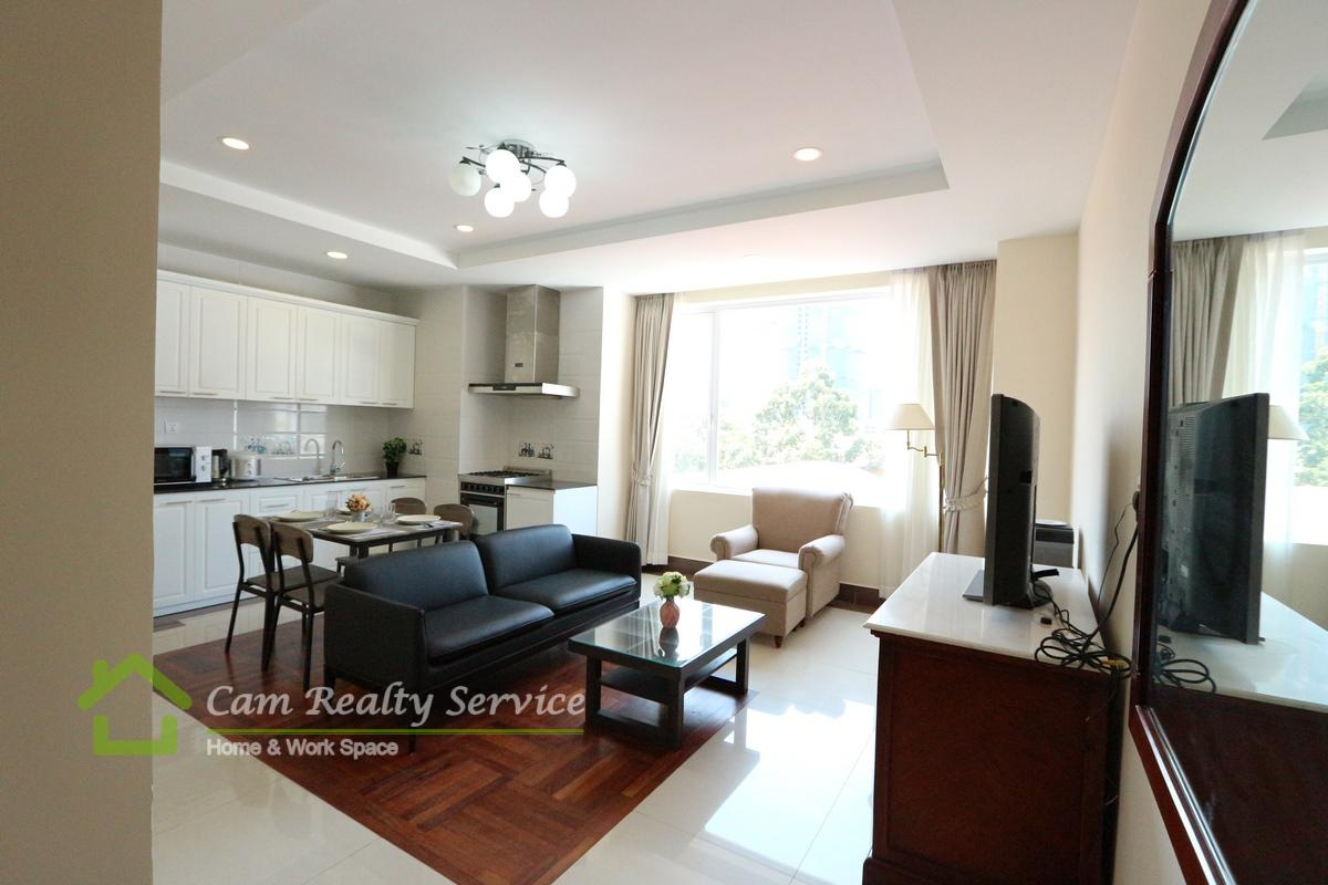 BKK1 area| Japanese style 2 bedrooms serviced apartment for rent| Gym & Jacuzzi 1200$/month (Negotiable)