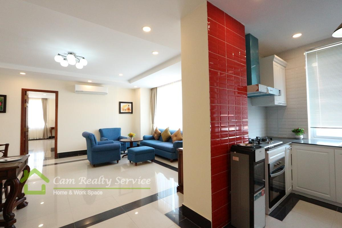 BKK1 area| Japanese style 3 bedrooms serviced apartment available for rent| Gym & Jacuzzi 1900$/month (Negotiable)