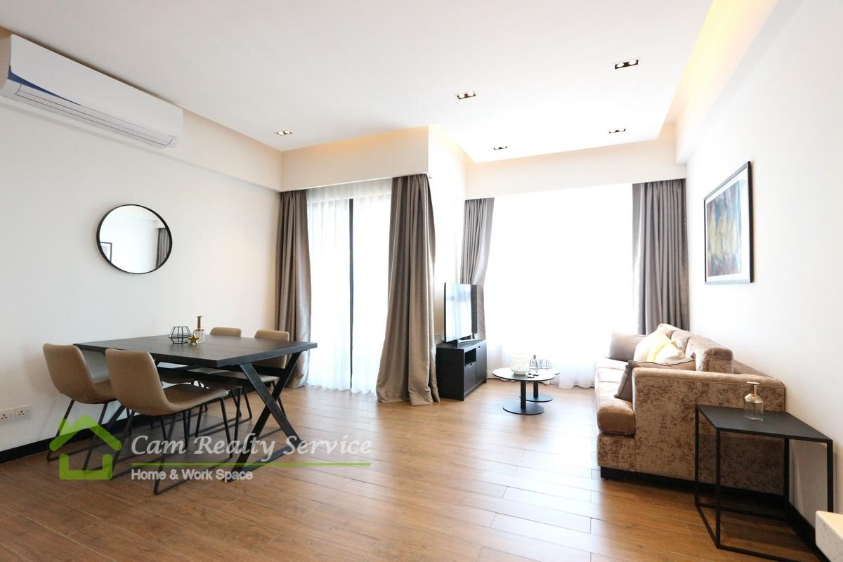 Southern of Tonle Bassac| Modern style 2 bedrooms apartment available for rent 1500$/month| Rooftop pool, gym & sauna|