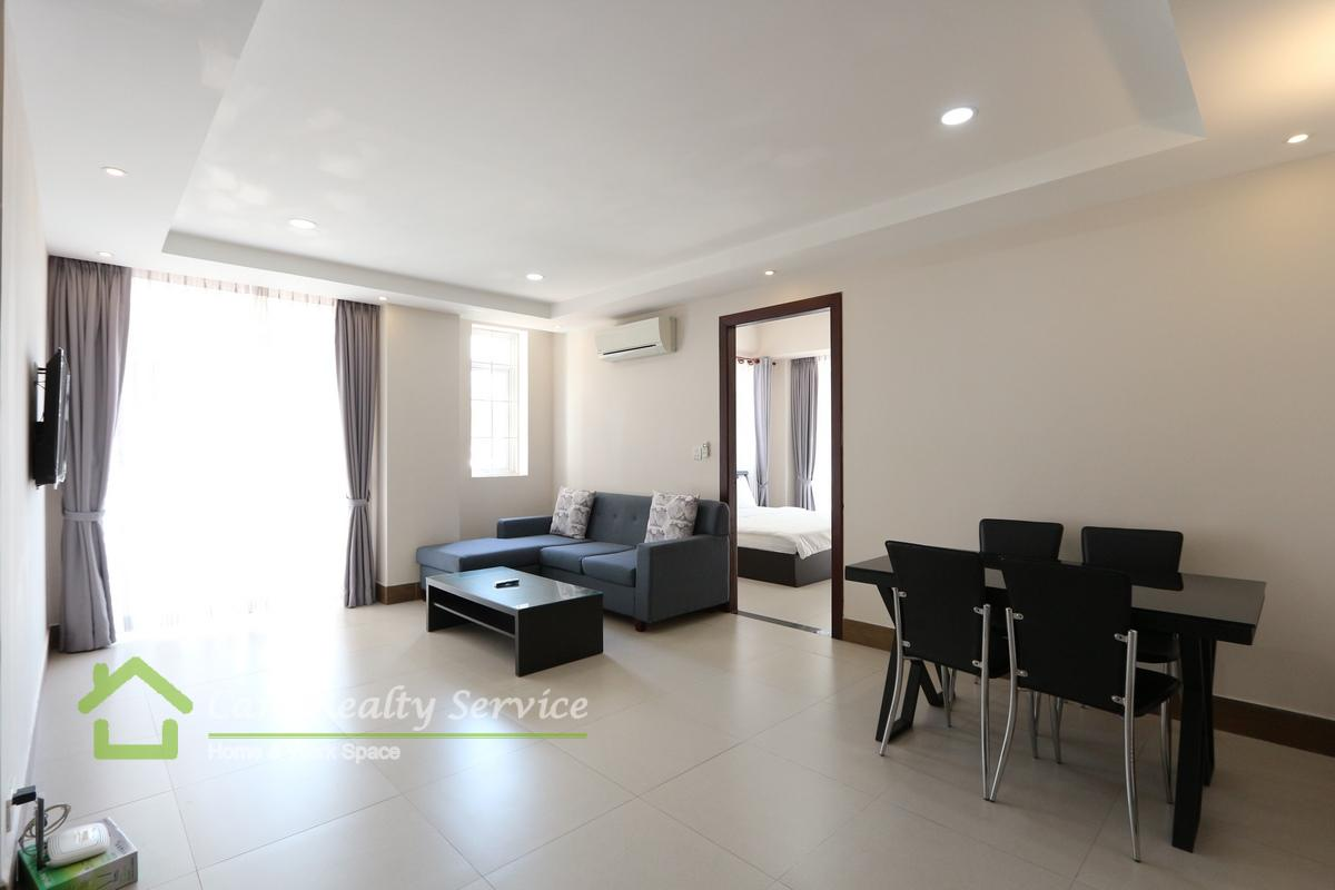 Toul Sleng area (BKK2)  Western style 1 bedroom serviced apartment available for rent 500$/month up