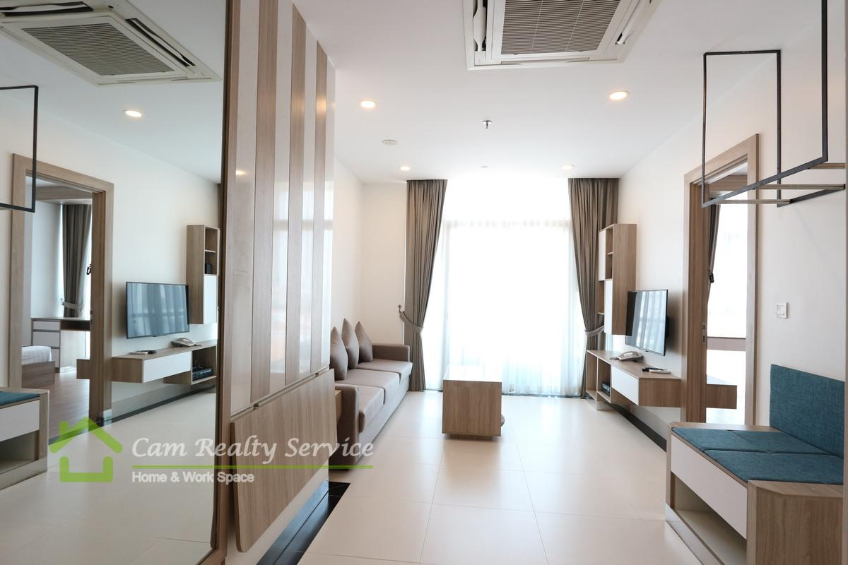 BKK1 area  Modern style 1 bedroom serviced apartment available for rent 1000$/month up  Swimming pool & Gym