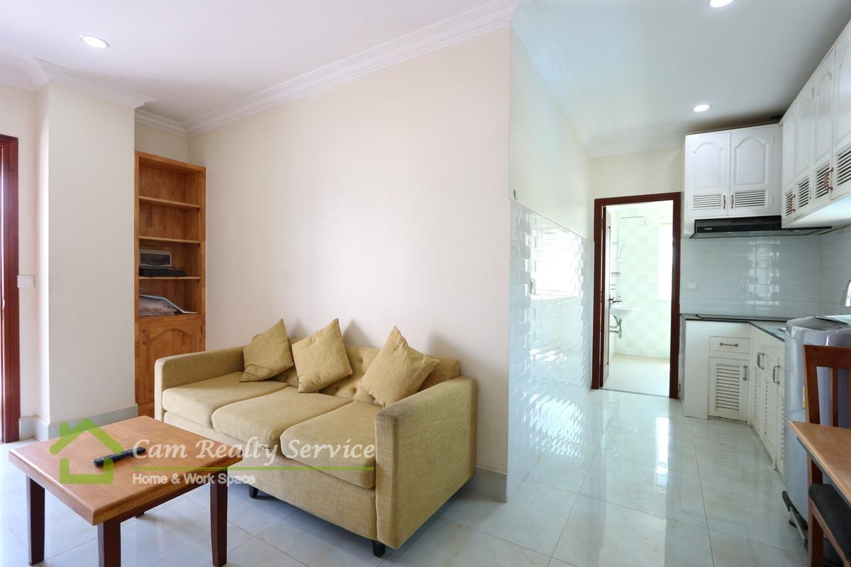 Beong Trabek area| Modern style 1 bedroom apartment available for rent 300$/month