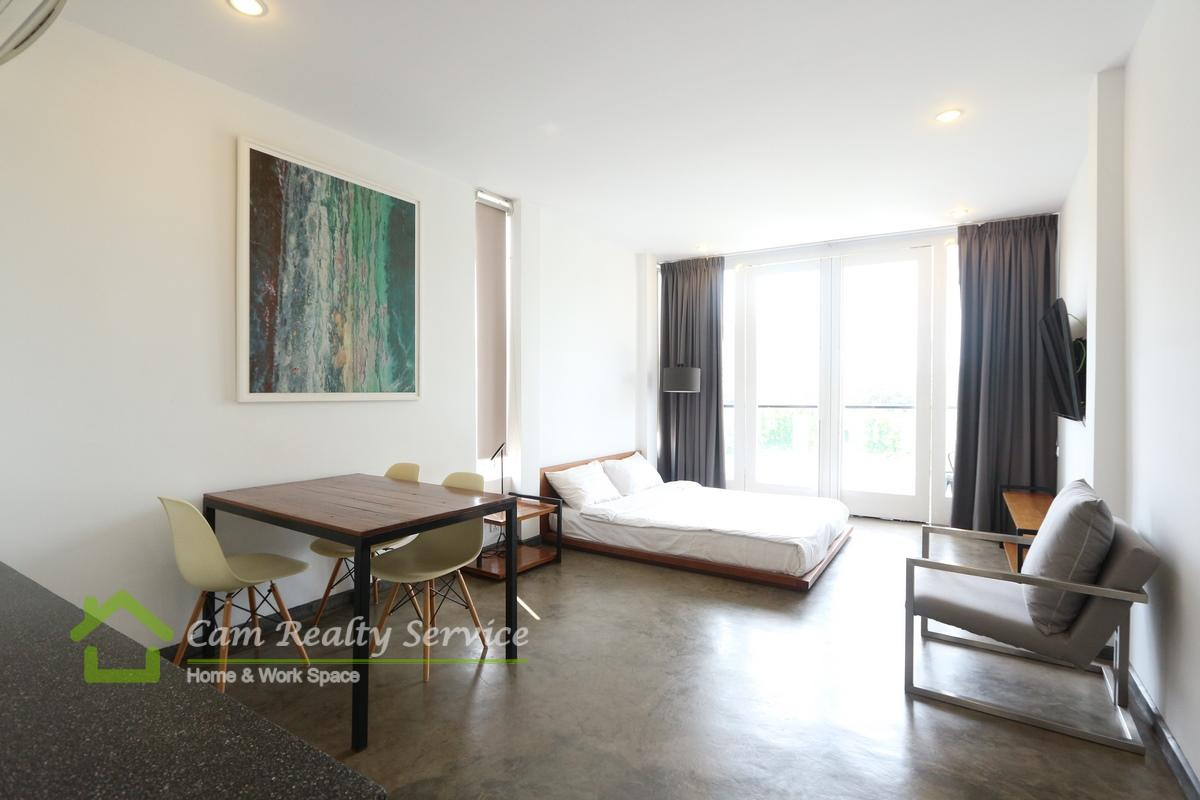 Daun Penh area  Modern style studio serviced apartment available for rent 600$/month
