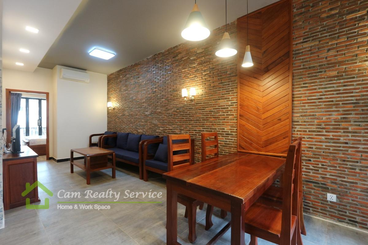Toul Sleng area| Western style 1 bedroom renovated house available for rent 500$/month