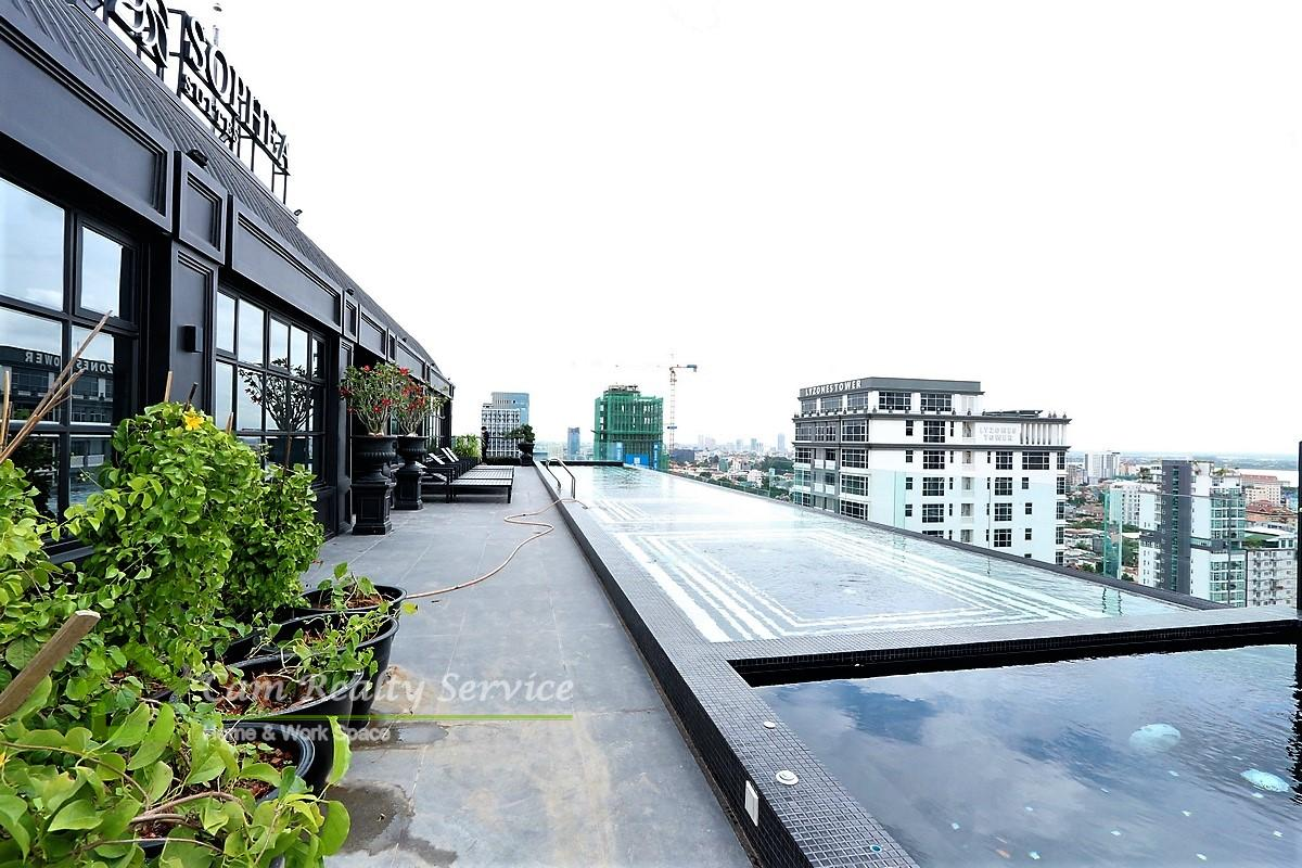 3 bedrooms serviced apartment for rent in BKK1 Phnom Penh