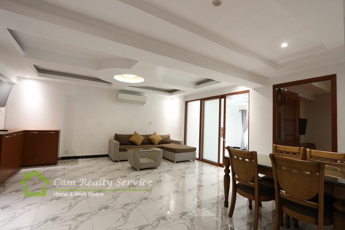 Southern of Russian Market  Spacious 1 bedroom serviced apartment available for rent 550$/month  Pool, Gym, Steam & Sauna 