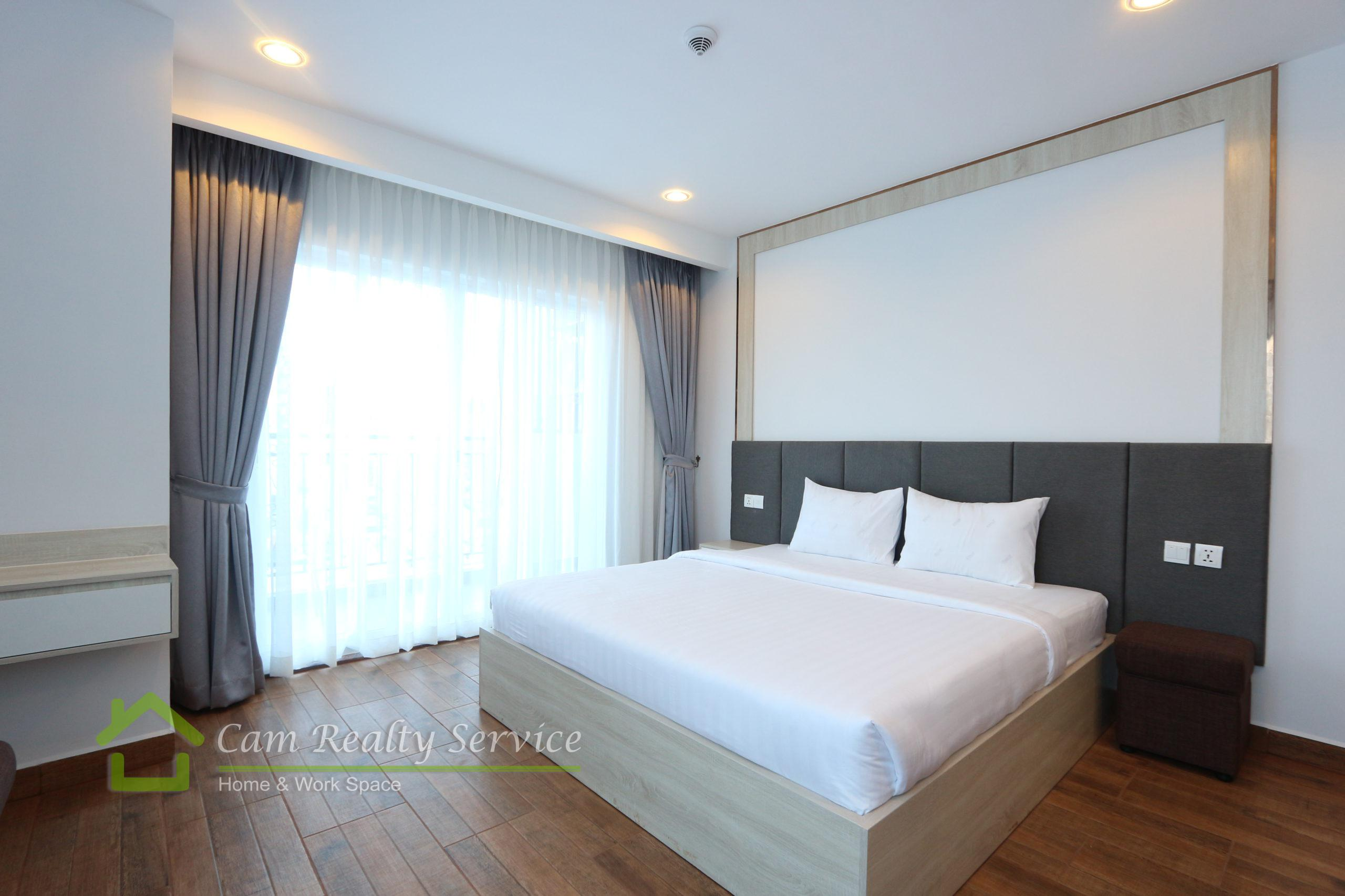 Beoung Trabek area| Brand new and modern style 2 bedrooms serviced apartment for rent 700$/month| Pool, Gym, Steam & Sauna|