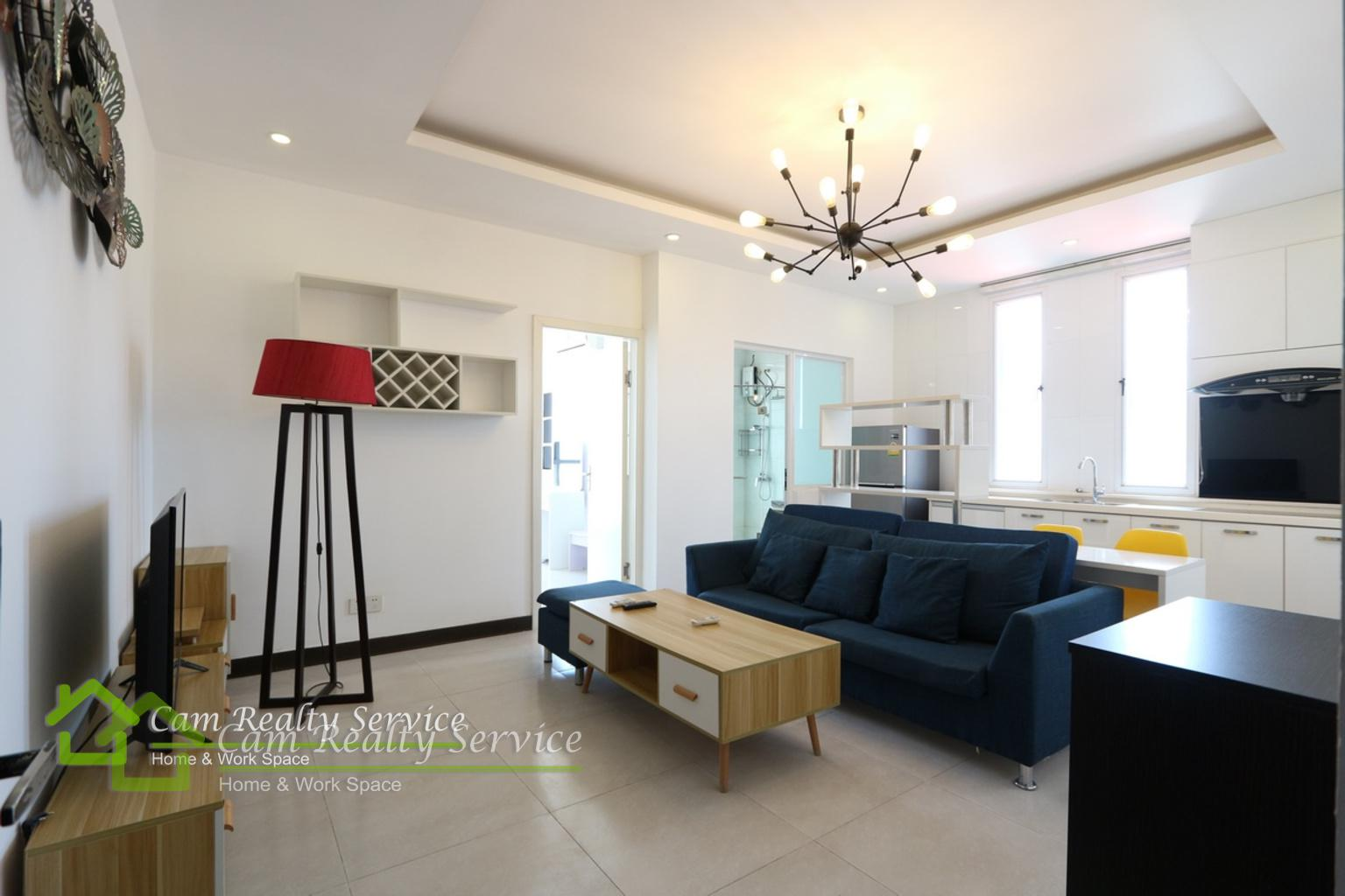Wat Phnom area| Modern style 1 bedroom apartment available for rent 500$/month Up| Pool & Gym|