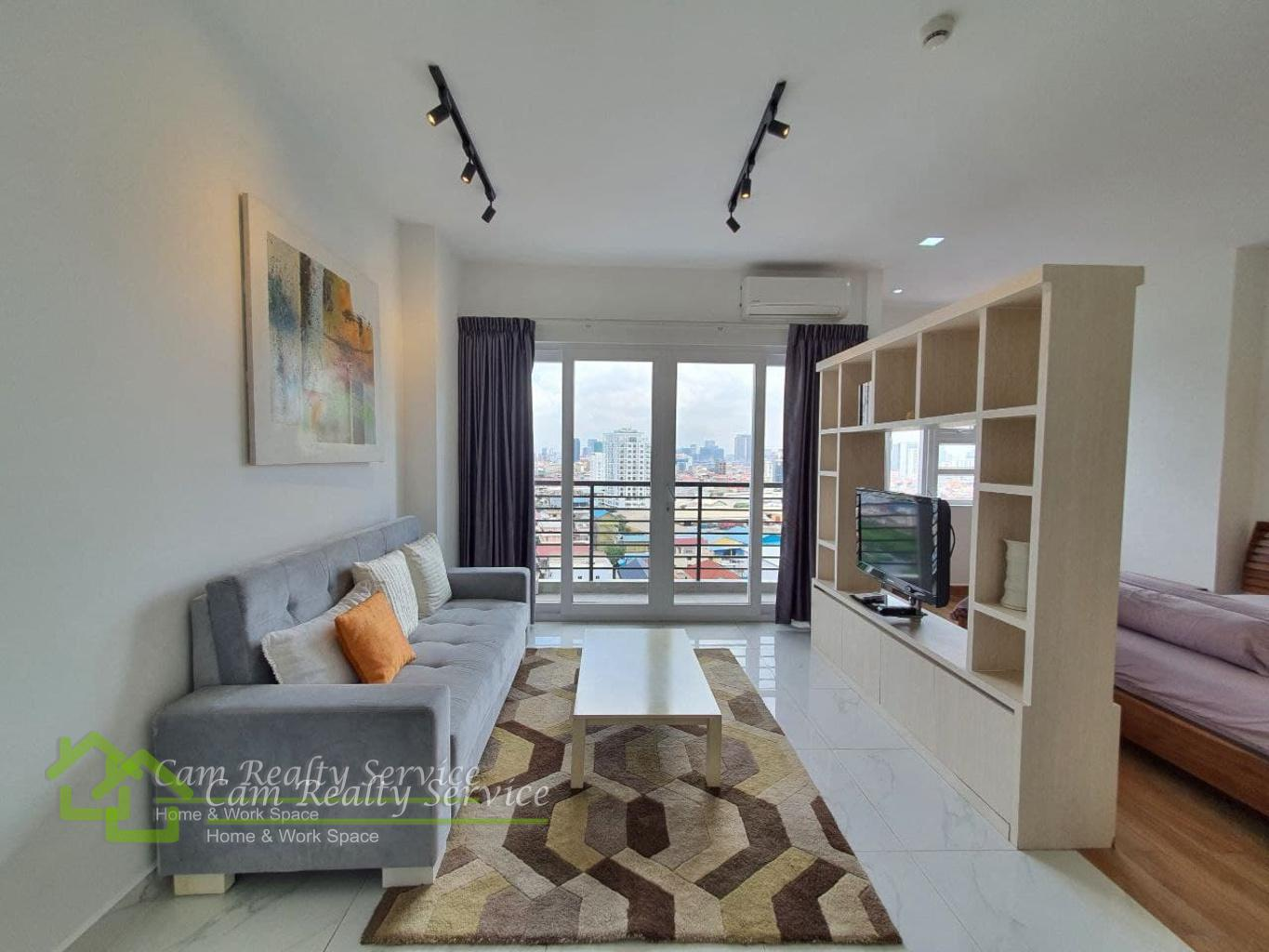 West part of Russian market area| Modern style studio apartment for rent 480$/month| Rooftop Pool, Gym, Steam & Sauna|